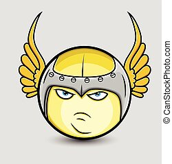 Angry Sparta Smiley with Wings