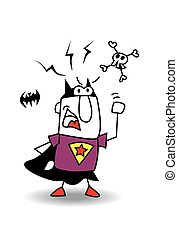 Angry Super batboy