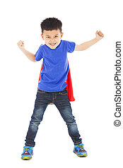angry superhero kid hero ready fighting pose