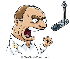 Angry Talk Radio DJ - An angry talk radio DJ rants into his...