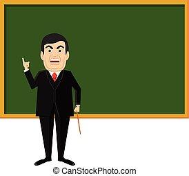 Angry teacher vector icon