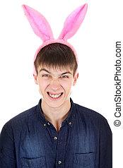 Teenager with Bunny Ears