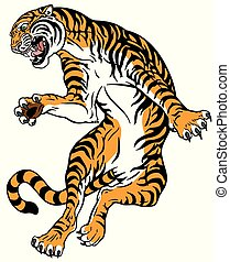 tiger in the jump
