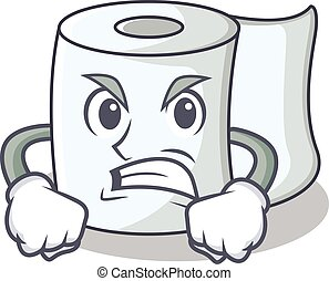 Angry tissue character cartoon style