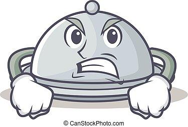 Angry tray character cartoon style