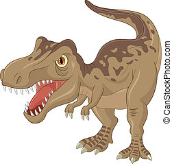 Angry tyrannosaurus cartoon - Vector illustration of Angry...