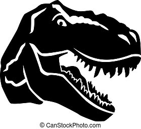 Angry tyrannosaurus head