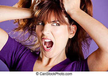 Angry woman - Beautiful woman with a angry expression...