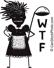 Fun character or mascot cooking chef cartoon. Vector illustration.