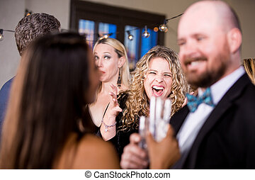 Angry Woman Screaming at Couple