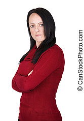 angry woman with arms folded