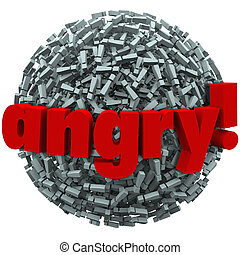 Angry Word Exclamation Points Mad Emotion Fury - The word...
