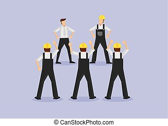 Angry Workers on Strike Vector Illustration - Group of ...