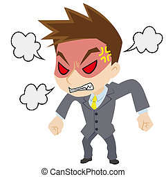 Angry young businessman