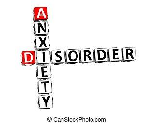 angsten, krydsord, hen, baggrund., hvid, sundhedsproblem, 3