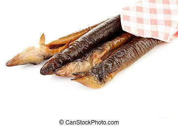 anguila, fumados
