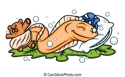 anguila, pez, sueño