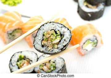 anguila, sushi