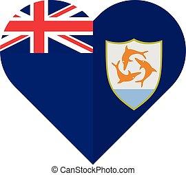 Anguilla flat heart flag