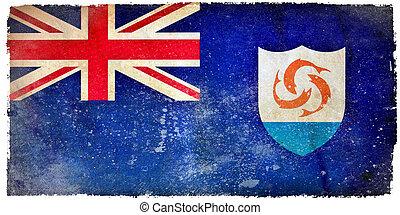 Anguilla grunge flag