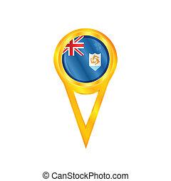 Anguilla pin flag