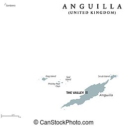 Anguilla political map
