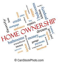 angular, concepto, palabra, propiedad, hogar, nube