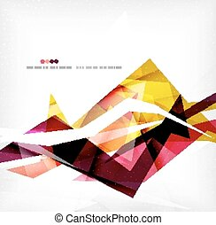 Angular geometric color shapes, abstract background, flyer...