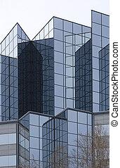 angular glass exterior