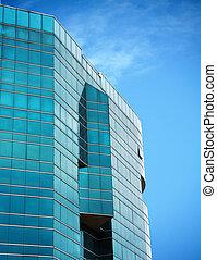 green glass tower