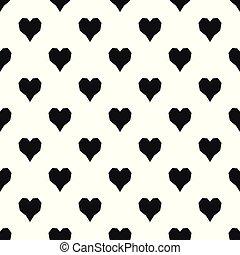 angular, patrón del corazón, seamless, vector