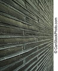 Angular view of brick wall