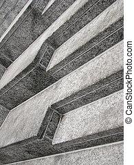 Angular view of stairs - Angular view of concrete stairs
