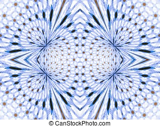 Angular Weave Abstract Design - Symmetrical, woven design...