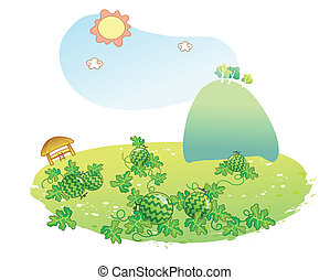 anguria, giardino