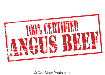 Angus beef - Rubber stamp with text angus beef inside,...