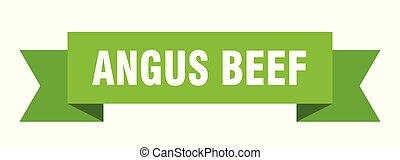 angus beef ribbon. angus beef isolated sign. angus beef ...