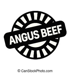 angus beef rubber stamp