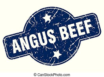 angus beef sign - angus beef vintage round isolated stamp
