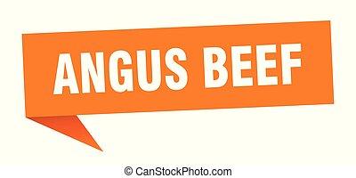 angus beef speech bubble. angus beef sign. angus beef banner