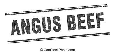 angus beef stamp. angus beef label. square grunge sign