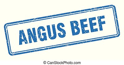 angus beef stamp. angus beef square grunge sign. angus beef