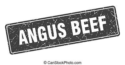 angus beef stamp. angus beef vintage gray label. Sign