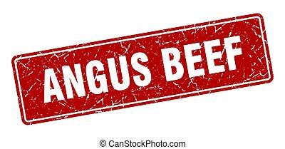 angus beef stamp. angus beef vintage red label. Sign