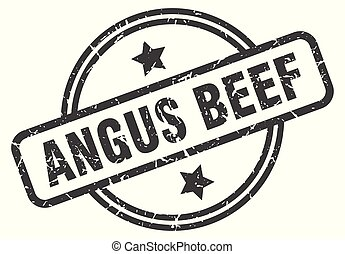 angus beef stamp isolated on white