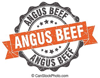 angus beef stamp. sign. seal