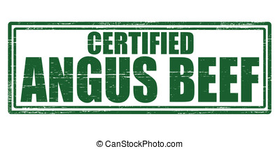 Angus beef - Stamp with text angus beef inside, vector...
