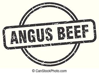 angus beef vintage stamp. angus beef sign