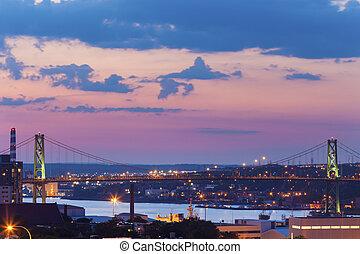 Angus L. Macdonald Bridge in Halifax