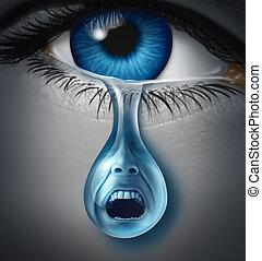 angustia, y, sufrimiento